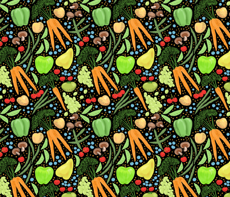 Farmer's Market Bounty fabric by vinpauld on Spoonflower - custom fabric