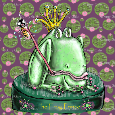 The Frog Prince on a Flower Frog Small Scale