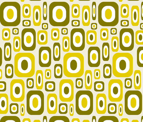 Olive Mod fabric by jjtrends on Spoonflower - custom fabric
