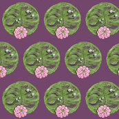 Lily Pads in Bloom small scale (purple background)