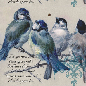 Birds with Quote