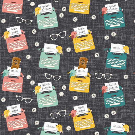 Word Nerd fabric by sara_berrenson on Spoonflower - custom fabric