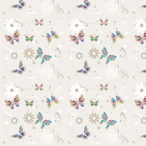 butterfly white confetti