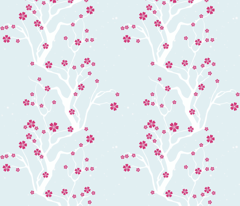 winter blossoms fabric by keweenawchris on Spoonflower - custom fabric
