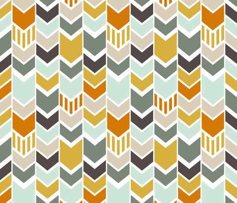 custom Blue Chevron fabric by mrshervi on Spoonflower - custom fabric