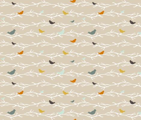 customTreetopBlueBirds fabric by mrshervi on Spoonflower - custom fabric