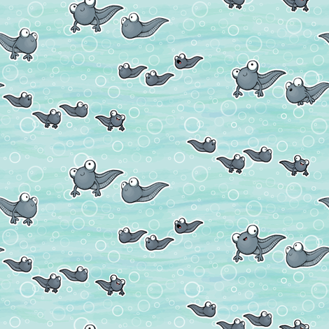 Tadpoles fabric by woodmouse&bobbit on Spoonflower - custom fabric