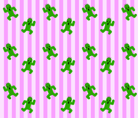 Cactuar Dance 2 fabric by clonistudios on Spoonflower - custom fabric