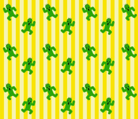 Cactuar Dance fabric by clonistudios on Spoonflower - custom fabric