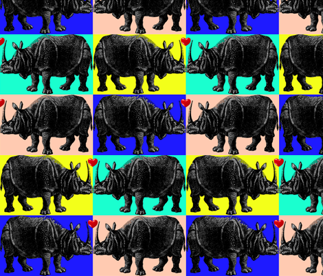 Rhino Luv Bold fabric by craftyscientists on Spoonflower - custom fabric