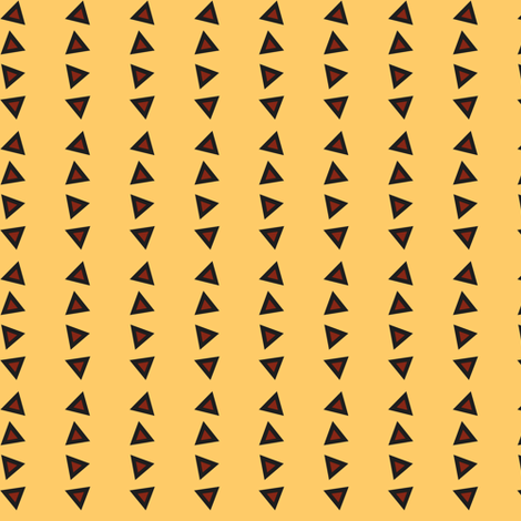 Pinstripe Triangles on Faded Yellow fabric by rockfashfab on Spoonflower - custom fabric