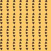 Pinstripe Triangles on Faded Yellow