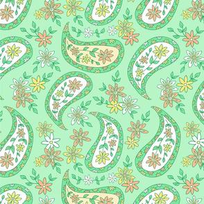 Green paisley - 2