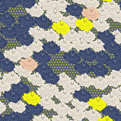 Stitch Flowers Yellow Polkas
