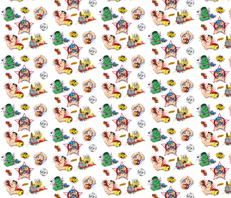 Baby Marvels fabric by scoobdeb on Spoonflower - custom fabric