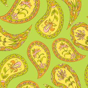 Green paisley - 1