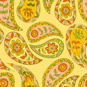Yellow paisley-2