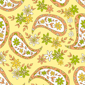 Yellow paisley-1