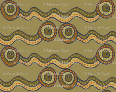watercourse - muddy stripes - large 200