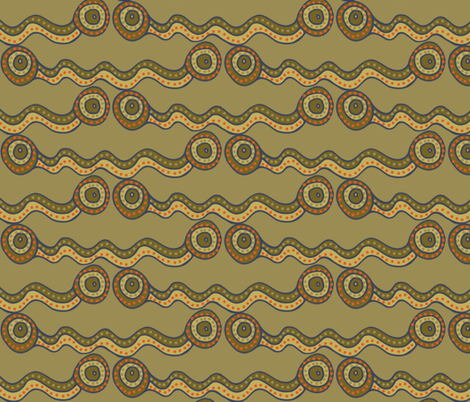 watercourse - muddy stripes - large 200 fabric by wiccked on Spoonflower - custom fabric