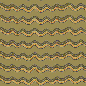 muddy stripes, wide - large 150