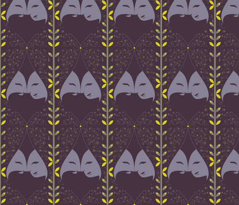 songe-nuit-ete fabric by elodie-lauret on Spoonflower - custom fabric