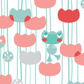 waterlily-frog-pattern