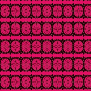 pink circles and stripes with dots
