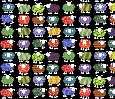 colorful sheeps! fabric by engelbam on Spoonflower - custom fabric