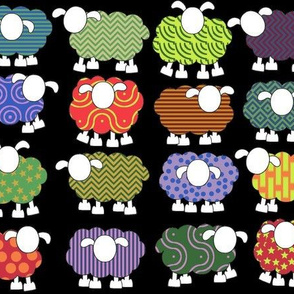 colorful sheeps!