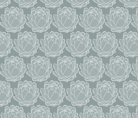 ArtichokeGrey fabric by zaffra on Spoonflower - custom fabric