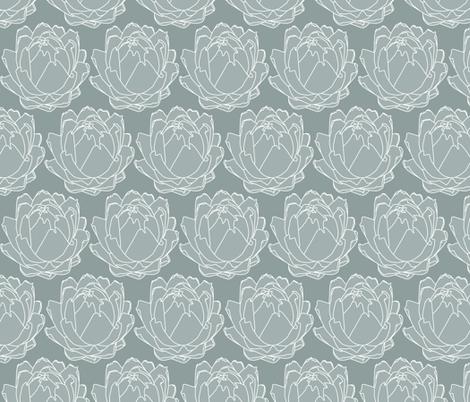 ArtichokeGrey fabric by zaffra on Spoonflower - custom fabric