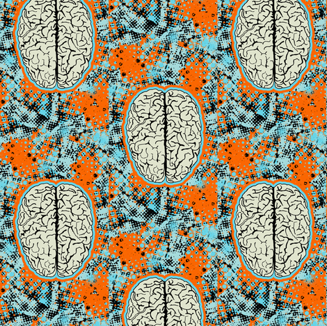 brain# 4 fabric by susiprint on Spoonflower - custom fabric