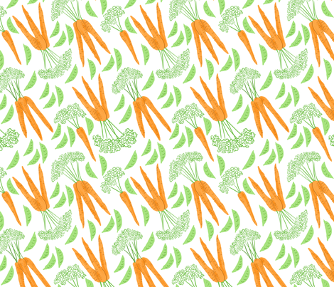 Peas and Carrots fabric by vinpauld on Spoonflower - custom fabric