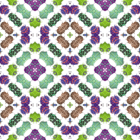 Kaleidoscope Bugs 2 fabric by animotaxis on Spoonflower - custom fabric