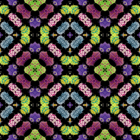 Kaleidoscope Bugs 3 fabric by animotaxis on Spoonflower - custom fabric