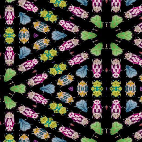 Kaleidoscope Bugs 4 fabric by animotaxis on Spoonflower - custom fabric