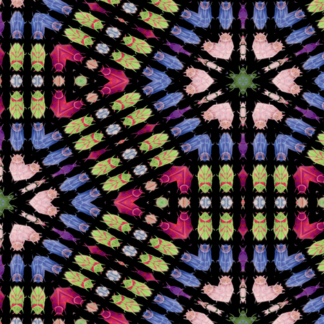 Kaleidoscope Bugs 6 fabric by animotaxis on Spoonflower - custom fabric