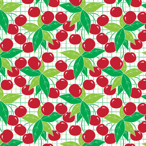 Cherries fabric by jjtrends on Spoonflower - custom fabric