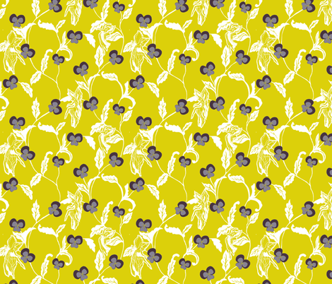 Wild pansy fabric by kirpa on Spoonflower - custom fabric