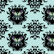 Butterfly-Damask-Wallpaper-Turquoise