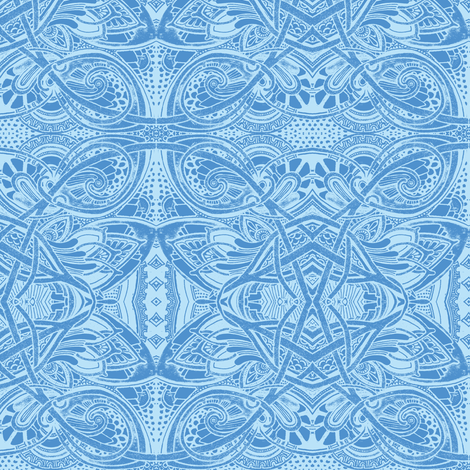 When Blue Meets Blue on the Horizon fabric by edsel2084 on Spoonflower - custom fabric
