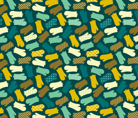 Oven Mitts fabric by nadiahassan on Spoonflower - custom fabric