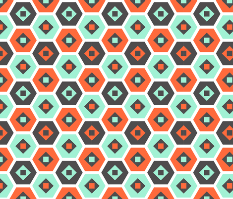 Hex'd fabric by nadiahassan on Spoonflower - custom fabric