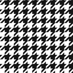 houndstooth black and white textured