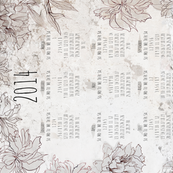 Tea towel - calendar 2014