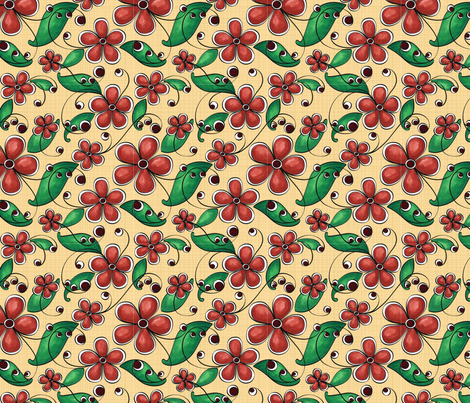 Floral Tendrils fabric by jennifer_clarke_designs on Spoonflower - custom fabric