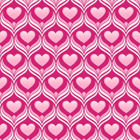 Hearts fabric by forget_me_not on Spoonflower - custom fabric