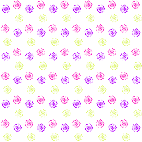 Retro Flowers - Summer's Call - © PinkSodaPop 4ComputerHeaven.com fabric by pinksodapop on Spoonflower - custom fabric