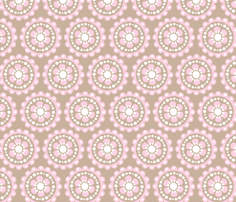 baby girl blooms 1 fabric by juneblossom on Spoonflower - custom fabric